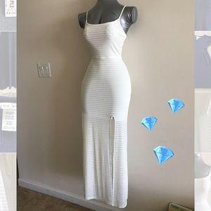 Aqua White Sheer Dress NWOT 👗